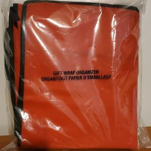 Other - NWOT Red and Black gift wrap organizer